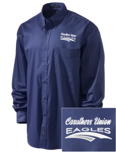 Caruthers Union Elementary School Eagles Embroidered Men's Easy-Care Shirt