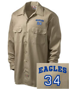 Caruthers Union Elementary School Eagles Embroidered Dickies Men's Long-Sleeve Workshirt