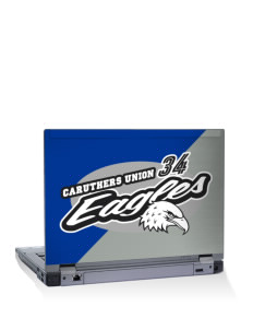 "Caruthers Union Elementary School Eagles 14"" Laptop Skin"