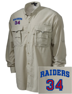 Caruthers High School Raiders Embroidered Men's Explorer Shirt with Pockets