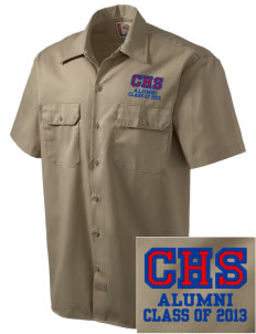 Caruthers High School Raiders Embroidered Dickies Men's Short-Sleeve Workshirt