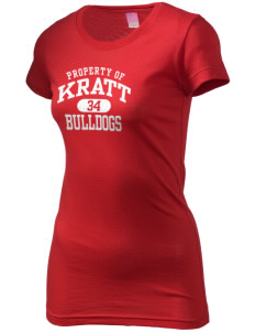 Kratt Elementary School Bulldogs  Juniors' Fine Jersey Longer Length T-Shirt