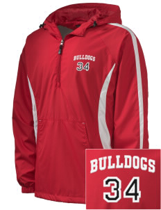 Kratt Elementary School Bulldogs Embroidered Men's Colorblock Raglan Anorak
