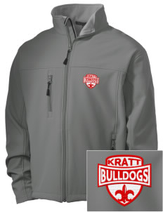 Kratt Elementary School Bulldogs Embroidered Men's Soft Shell Jacket
