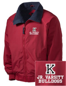 Kratt Elementary School Bulldogs Embroidered Men's Fleece-Lined Jacket