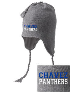 Chavez Elementary School Panthers Embroidered Knit Hat with Earflaps