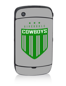Riverdale High School Cowboys Black Berry 8530 Curve Skin
