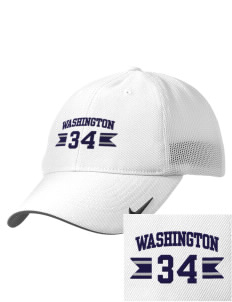 Washington Middle School Warriors Embroidered Nike Golf Mesh Back Cap