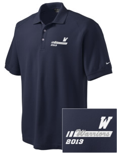 Washington Middle School Warriors Embroidered Nike Men's Pique Knit Golf Polo