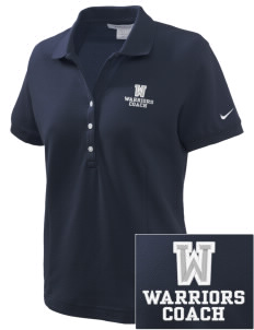 Washington Middle School Warriors Embroidered Nike Women's Pique Golf Polo