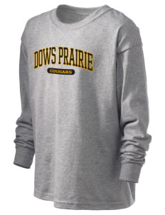 Dows Prairie Elementary School Cougars Kid's 6.1 oz Long Sleeve Ultra Cotton T-Shirt