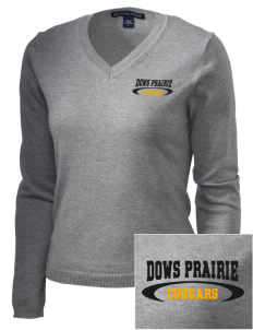 Dows Prairie Elementary School Cougars Embroidered Women's V-Neck Sweater