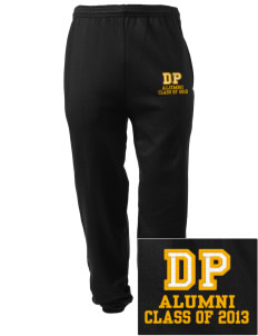 Dows Prairie Elementary School Cougars Embroidered Men's Sweatpants with Pockets