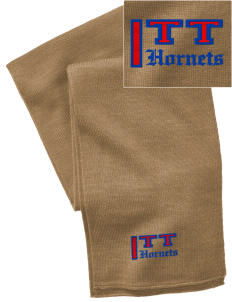 Toddy Thomas Elementary School Hornets  Embroidered Knitted Scarf