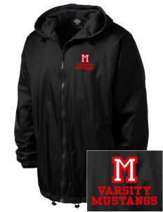 Mulberry Elementary School Mustangs Embroidered Dickies Men's Fleece-Lined Hooded Jacket