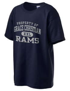 Grace Christian Academy Rams Kid's 6.1 oz Ultra Cotton T-Shirt