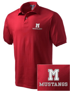 Mojave High School Mustangs Embroidered Men's Jersey Polo