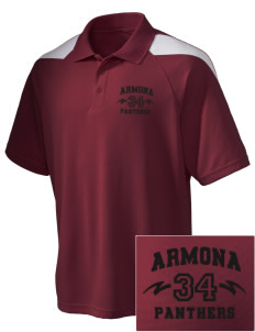Armona Elementary School Panthers Embroidered Holloway Men's Frequency Performance Pique Polo