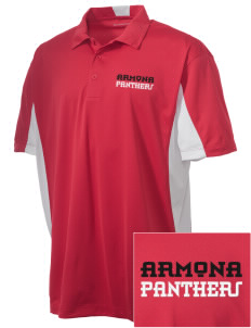Armona Elementary School Panthers Embroidered Men's Side Blocked Micro Pique Polo