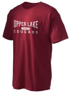 Upper Lake High School Cougars Hanes Men's 6 oz Tagless T-shirt