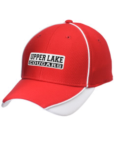 Upper Lake High School Cougars Embroidered New Era Contrast Piped Performance Cap