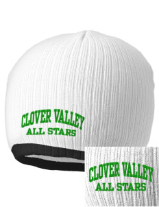 Clover Valley High School All Stars Embroidered Champion Striped Knit Beanie