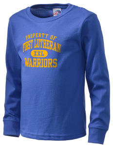 First Lutheran School Warriors  Kid's Long Sleeve T-Shirt