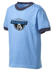 First Lutheran School Warriors Kid's Ringer T-Shirt