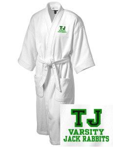 Thomas Jefferson Elementary School Jack Rabbits Embroidered Terry Velour Robe