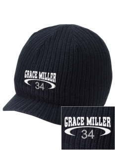 Grace Miller Elementary School Roadrunners Embroidered Knit Beanie with Visor