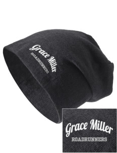 Grace Miller Elementary School Roadrunners Embroidered Slouch Beanie