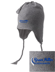 Grace Miller Elementary School Roadrunners Embroidered Knit Hat with Earflaps