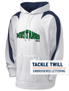 John Muir Middle School Mustangs Holloway Men's Sports Fleece Hooded Sweatshirt with Tackle Twill