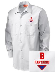 Badillo Elementary School Panthers Embroidered Men's Industrial Work Shirt - Regular