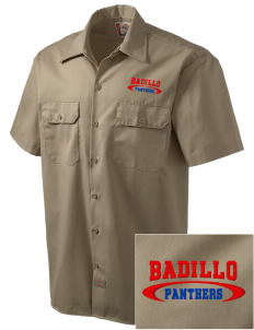 Badillo Elementary School Panthers Embroidered Dickies Men's Short-Sleeve Workshirt