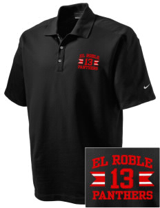 El Roble Intermediate School Panthers Embroidered Nike Men's Dri-FIT Pique II Golf Polo