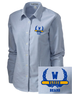 Warren High School Bears Embroidered Women's Classic Oxford