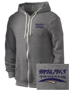 MOUNT UNION AREA jr.sr.HIGHSCHOOL TROJANS Embroidered Alternative Men's Rocky Zip Hooded Sweatshirt