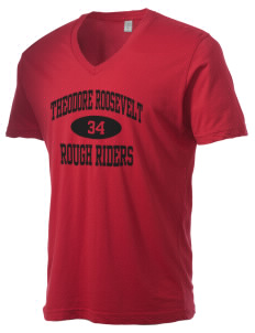 Theodore Roosevelt Middle School Rough Riders Alternative Men's 3.7 oz Basic V-Neck T-Shirt
