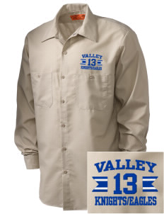 Valley Alternative Schools Knights/Eagles Embroidered Men's Industrial Work Shirt - Regular