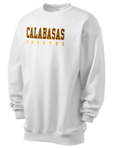 Calabasas High School Coyotes Men's 7.8 oz Lightweight Crewneck Sweatshirt