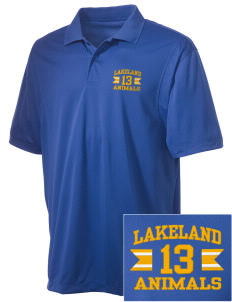 Lakeland Elementary School Animals Embroidered Men's Micro Pique Polo