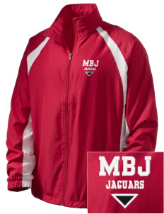 Mildred B Janson Elementary School Jaguars  Embroidered Men's Full Zip Warm Up Jacket