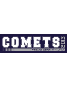 "Twin Lakes Elementary School Comets Bumper Sticker 11"" x 3"""
