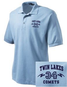 Twin Lakes Elementary School Comets Embroidered Tall Men's Silk Touch Polo