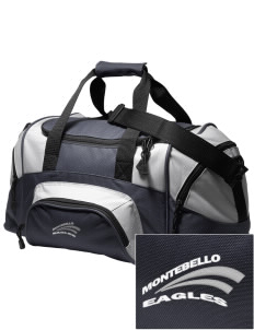 Montebello Intermediate School Eagles Embroidered Small Colorblock Duffel