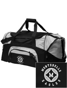 Montebello Intermediate School Eagles Embroidered Colorblock Duffel Bag