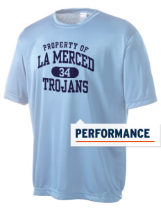 La Merced Intermediate School Trojans Men's Competitor Performance T-Shirt
