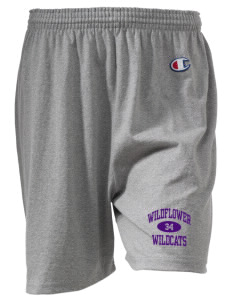 "Wildflower Elementary School Wildcats  Champion Women's Gym Shorts, 6"" Inseam"