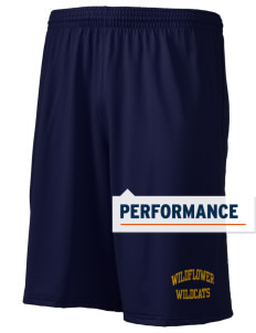 "Wildflower Elementary School Wildcats Holloway Men's Performance Shorts, 9"" Inseam"
